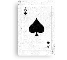Vintage Look Ace of Spades Playing Card Graphic Canvas Print