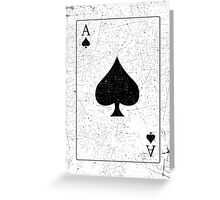 Vintage Look Ace of Spades Playing Card Graphic Greeting Card