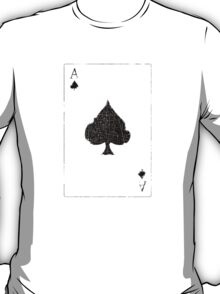 Vintage Look Ace of Spades Playing Card Graphic T-Shirt