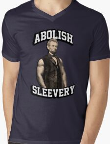 Abraham Lincoln - Abolish Sleevery Mens V-Neck T-Shirt