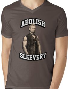 Abraham Lincoln - Abolish Sleevery Mens V-Neck T-Shirt
