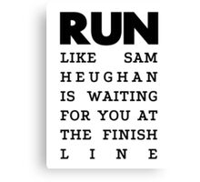 RUN - Sam Heughan Canvas Print
