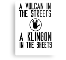 I am a vulcan in the streets and a klingon in the sheets Metal Print