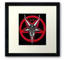 PENTAGRAM BAPHOMET RED Framed Print