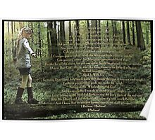 Forest Child Psalm Poster
