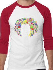 Jimi Hendrix Color Blast Design Men's Baseball ¾ T-Shirt