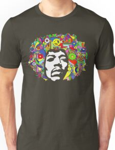 Jimi Hendrix Color Blast Design Unisex T-Shirt