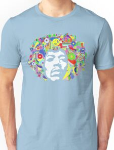 Jimi Hendrix Color Blast Design Unisex T-Shirt