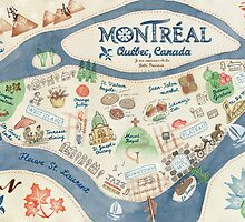 Map of Montreal, Canada by kimfleming