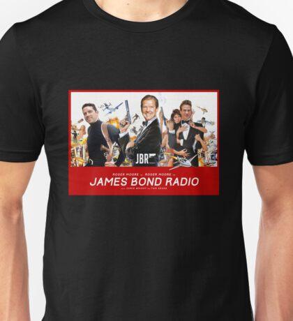 Roger Moore on James Bond Radio - Retro Movie Poster Unisex T-Shirt