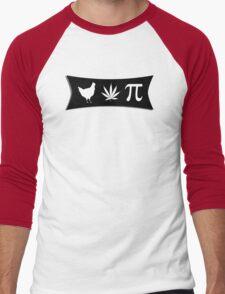 Chicken pot pi (pie) - funny tshirt Men's Baseball ¾ T-Shirt