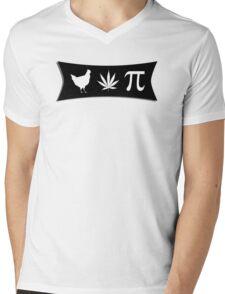 Chicken pot pi (pie) - funny tshirt Mens V-Neck T-Shirt