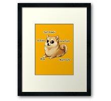 Kawaii Doge Framed Print