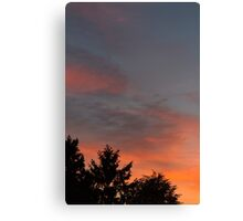 sunset at the countryside Canvas Print