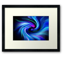 Swirls - blue, pink, green Framed Print