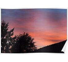 sunset at the countryside Poster