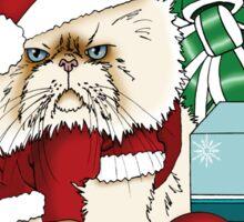 Grumpy Christmas Cat Sticker
