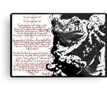 Frog Ink Psalm Metal Print