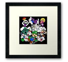 Luigi's Paper Mansion Color Ver. Framed Print