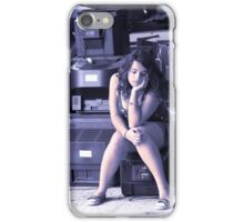 Portrait of a Teenager 29 iPhone Case/Skin