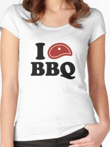 I Love BBQ Women's Fitted Scoop T-Shirt