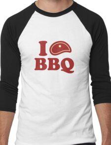 I Love BBQ Men's Baseball ¾ T-Shirt