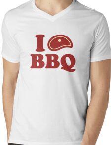 I Love BBQ Mens V-Neck T-Shirt