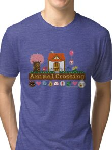 Animal Crossing home sampler Tri-blend T-Shirt