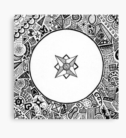 Compass Points Canvas Print