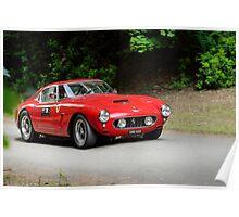 The Three Castles Welsh Trial 2014 - Ferrari 250 GT SWB Poster