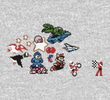8-bit Race One Piece - Short Sleeve