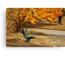 Autumn Benches Canvas Print