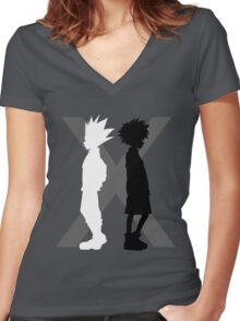 The Light and the Shadow Women's Fitted V-Neck T-Shirt