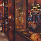 Cafe at Rue Lucien Sampaix, Paris by Terri Maddock