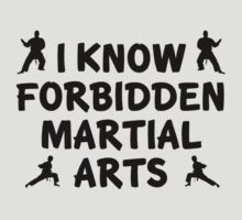 I Know Forbidden Martial Arts by DesignFactoryD