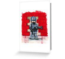 Robocop Lego Style Greeting Card