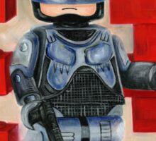 Robocop Lego Style Sticker