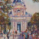 Place de la Sorbonne, Paris by Terri Maddock