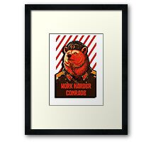 Vote Soviet bear - russian bear meme Framed Print