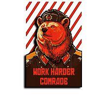 Vote Soviet bear - russian bear meme Photographic Print