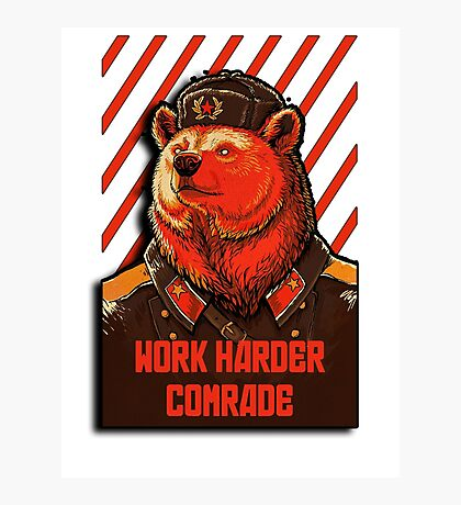 Vote Soviet bear - russian bear meme Photographic Print