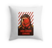 Vote Soviet bear - russian bear meme Throw Pillow
