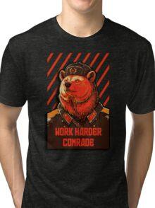 Vote Soviet bear - russian bear meme Tri-blend T-Shirt