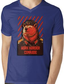 Vote Soviet bear - russian bear meme Mens V-Neck T-Shirt