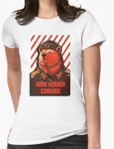 Vote Soviet bear - russian bear meme Womens Fitted T-Shirt