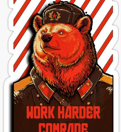 Vote Soviet bear - russian bear meme Sticker