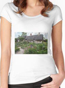 Ann Hathaway's Cottage , Stratford Upon Avon  UK 2 Women's Fitted Scoop T-Shirt