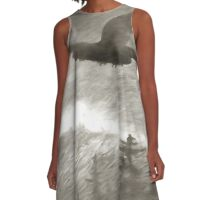 Stealth And Surprise Of The Night Owl A-Line Dress