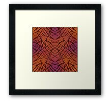 Brown red pattern . Framed Print