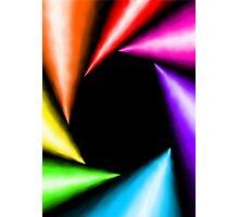 Rainbow vortex Photographic Print